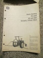 John Deere 25 and 25A Sprayers, 3-Point Hitch Parts Catalog PC-949