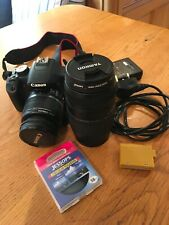 canon eos 500d digital slr camera, with Tameron 70/300 zoom and extra battery