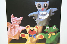 Cat, Dog, Owl and Frog, Animal Toy Hand Puppets Sewing Pattern