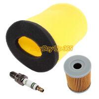 Air Oil Filter Spark Plug For Suzuki King Quad 300 Quadrunner 250 Tune Up Kit