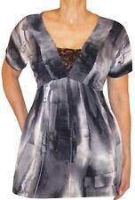 XB3 Funfash Plus Size Clothing Gray Black Women's Top Shirt Made in USA 2x 22 24