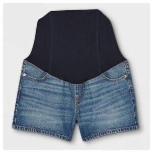 NWOT Isabel Maternity Crossover Panel Midi Shorts Size 10