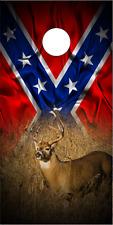 Buck Deer In Grass Flag 2 Cornhole Wrap Bag Toss Skin Decal Sticker Wraps