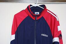 Adidas Team USA Vintage Track Jacket Sewn Olympics Men Rio Phelps Large Athletic
