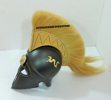 Medieval knight Spartan Helmet Armor Greek Helmet With Plume