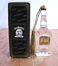 Jack Daniels Whiskey Bottle 1913 Crystal Commemorative Ornament NEW IN BOX!