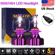 9006 HB4 LED Headlight Kit  4-Sides 1400W 200000LM Bulbs 6000K Hi-Lo Beam Lamp Y