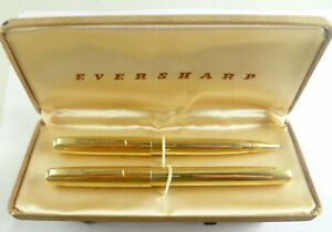 EVERSHARP GOLD FILLED VENTURA FOUNTAIN PEN AND PENCIL IN ORIGINAL BOX