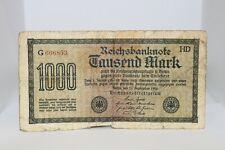 1922 Reichsbanknote 1000