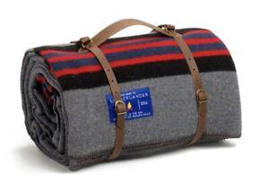 New! $198 Best Made Co x Pendleton. Lumberlander Wool Blanket. Grey. made in USA