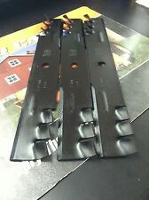 "SCAG GATOR STYLE MULCH BLADES FOR 52"" CUT REPLACES OEM 482878 48185 SET OF 3"