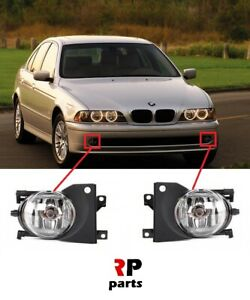 FOR BMW 5 SERIES E39 2000 - 2004 NEW FRONT BUMPER FOGLIGHT LAMP PAIR SET