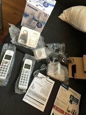 Panasonic KX-TGD532W Expandable Cordless Phone w/ Call Block & Answering Machine