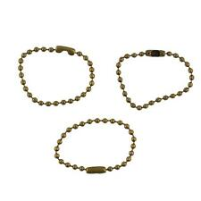 """20pcs 4"""" Necklace Dog Tag Ball Chain and Connector 2.4mm Bead Vintage Bronze"""