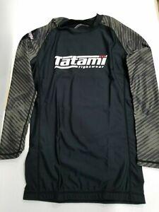 New Tatami Renegade Green Camo MMA BJJ Jiu Jitsu Long Sleeve LS Rashguard