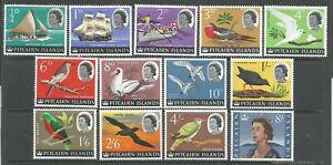 PITCAIRN ISLANDS   1964    QEII    MVLH    Complete set of 13   SG106a-118