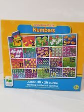 The Learning Journey Jumbo Numbers and Counting Puzzle 3ft x 2ft 50 pcs