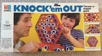 1980 MB GAMES KNOCK'EM OUT BOARD GAME 100% COMPLETE