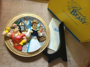 Disney Beauty & the Beast L.Edition 3D Plate 'Lost in Her Dreams' (Box & COA)