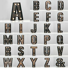 Vintage Style Bronze A - Z & Light Up Marquee Letters Carnival Personalised