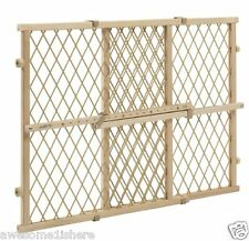 Wooden Dog Gate Baby Locking Bar Stairs Adjustable Safety Child Pet Fence Wood
