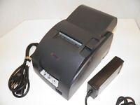 EPSON TM-U220A M188A Dot Matrix POS Receipt Printer Parallel with Power Supply