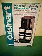 CUISINART TWO TO GO COFFEE MAKER WITH 2 STAINLESS STEEL COFFEE MUGS