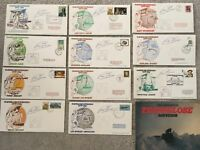 Complete Stamps First Day Covers Transglobe Signed Ranulph Fiennes FDC 1979-1982