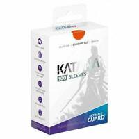 Ultimate Guard Katana Card Sleeves - Orange - 100 Count - 66x91mm Standard Size