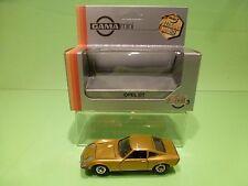 GAMA MINI 1129 OPEL GT - METALLIC GOLD 1:43 - NEAR MINT BOX