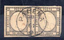 FRANCOBOLLI ANTICHI STATI 1861 NAPOLI UN GRANOINCOPPIANNULLODIPALENAN°RIF 5807