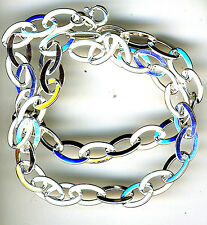 """925 Sterling Silver Oval Link Solid Chain /  Necklace       Length 18.1/2"""""""