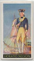 Vice Admiral Horatio Nelson Royal Navy Napoleonic Wars 1930s Ad Trade Card