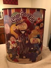Cabbage Patch Kids CIRCUS Vintage 1985 Original Cheinco Metal Trash Garbage Can