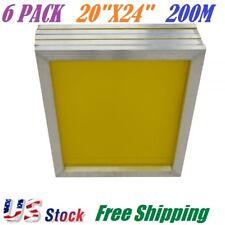 6 PACK Aluminum Frame Silk Screen Printing Screens 20 x 24 Inch, 200 Mesh Count