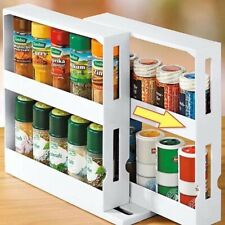 Kitchen Storage Rack Seasoning Spice Jar Rack Multi-Function Rotating Organizer