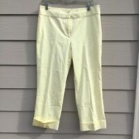 Style&co. Women's Yellow Cuffed Capri Pants Stretch Cotton Size 12