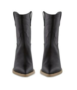 Tony Bianco Leather Scout Black Luxe/Sand Ankle Boots Sz 6 / 36-37 NEW $269.95