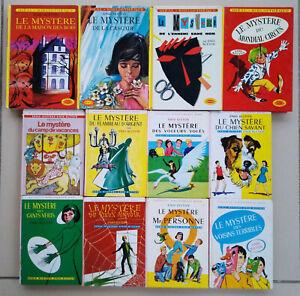 Lot de 12 Livres Série Mystère Enid Blyton Bibliothèque Rose