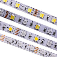 SMD 5050 RGB CCT LED Strip Waterproof DC 12V 24V CCT RGBW/WW string light 5m 50m
