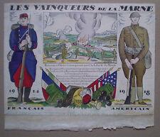 14-18 /WW1 / US ARMY IN FRANCE / ARMÉE US / LA MARNE / GRAVURE 400 ex. / BENITO