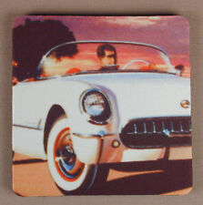 Old Cars Auto w Corvette Set of 4 Flexible Drink Coasters Made in USA Free Ship