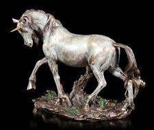 Einhorn Figur - Trabend durch die Steppe - Veronese Statue Pferd Bronze-Optik