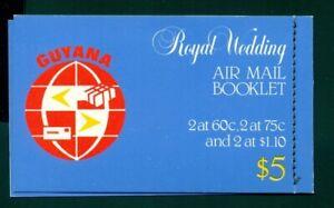 Guyana Scott #331-333 MNH Royal Wedding BOOKLET of PAIRS SG SB11 $$