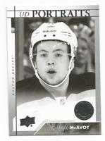 2017-18 Upper Deck Portraits #P59 Charlie McAvoy Boston Bruins