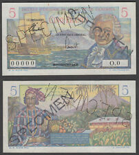 French Equatorial Africa & Cameroun 5 Francs ND 1957 SPECIMEN (AU) Banknote P-28
