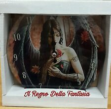 OROLOGIO CLOCK FANTASY IN VETRO ANGEL ROSE BY ANNE STOKES