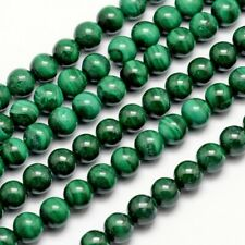 2strands Natural Smooth Malachite Beads Round Gemstone Loose Beads 8mm