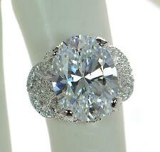 Joseph Esposito Diamonique Solid 925 Sterling Silver Sweetheart Ring Sz-6 '