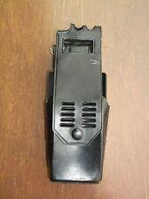 Vintage Police Duty Black Leather Portable Radio Holder With Belt Swivel